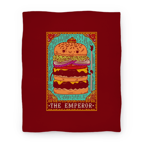 Burger Emperor Tarot Card Blanket | LookHUMAN