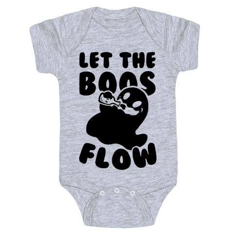 Halloween- Let the Boos Flow! Baby Onesy