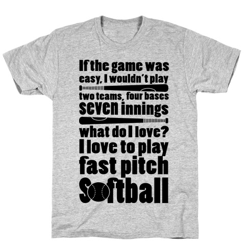 I Love Fast Pitch Softball T-Shirt