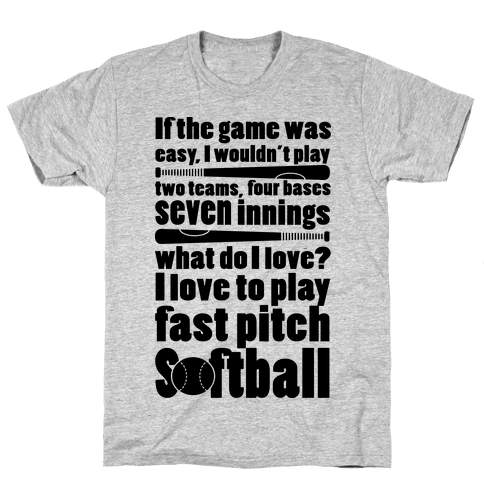 I Love Fast Pitch Softball Mens T-Shirt