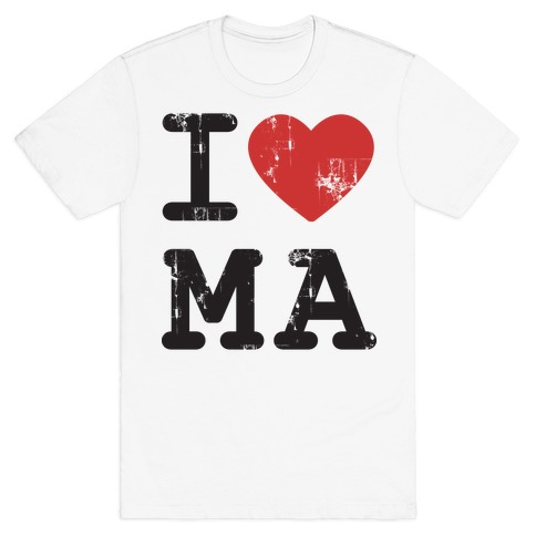 I Love Massachussets Mens T-Shirt
