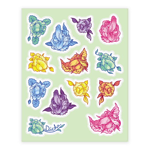 Penis Pattern Sticker and Decal Sheet