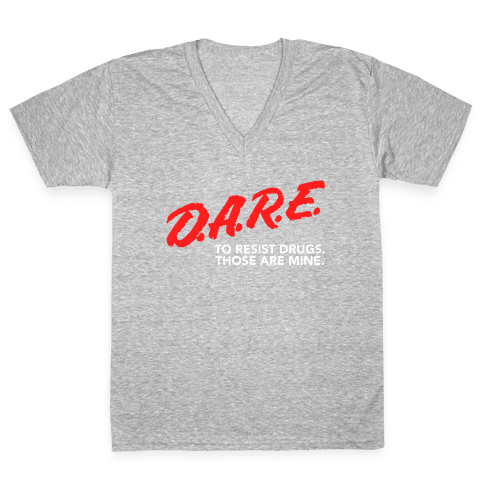 DARE Parody V-Neck Tee Shirt