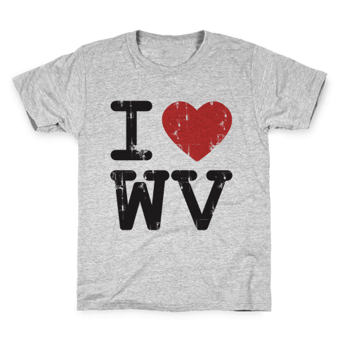 I Love West Virginia Kids T-Shirt