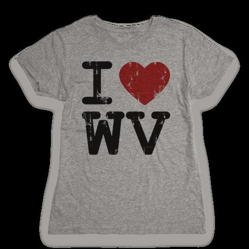 I Love West Virginia Womens T-Shirt