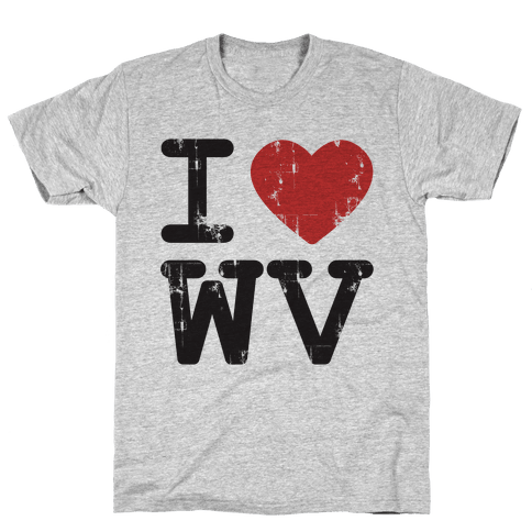 I Love West Virginia Mens T-Shirt