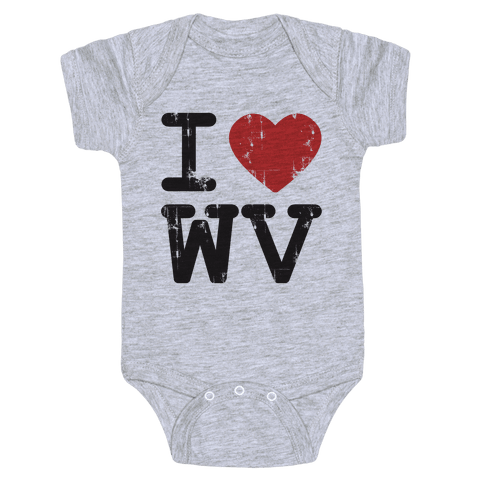 I Love West Virginia Baby Onesy