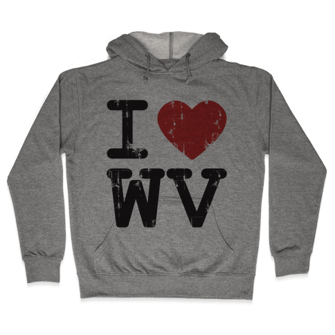 I Love West Virginia Hooded Sweatshirt