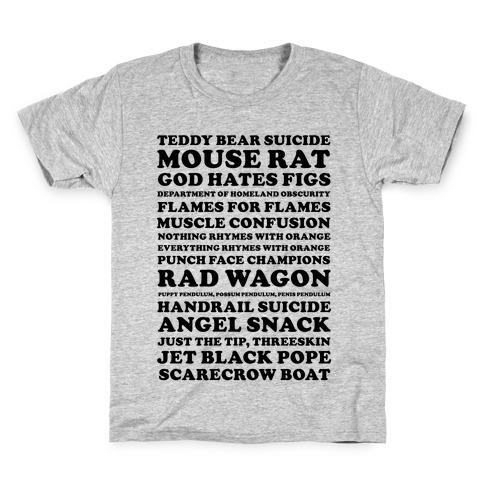 Andy Dwyer Band Names Kids T-Shirt