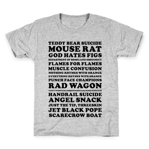 Andy Dwyer Band Names Kids T-Shirt