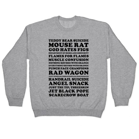 Andy Dwyer Band Names Pullover