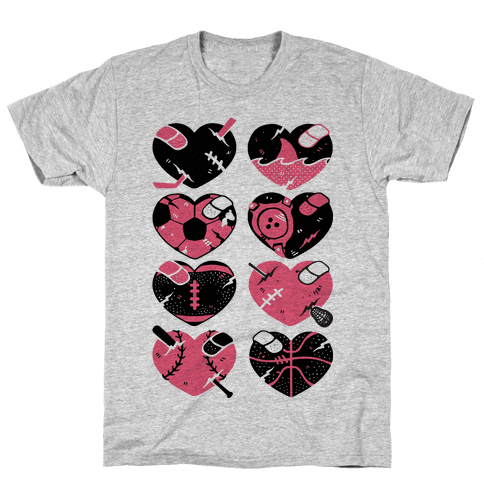Sport Hearts Mens T-Shirt