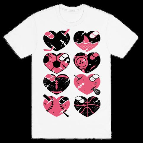 Sport Hearts Mens T-Shirt