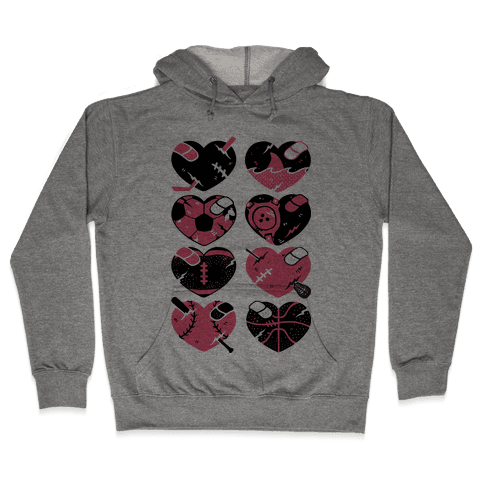Sport Hearts Hooded Sweatshirt