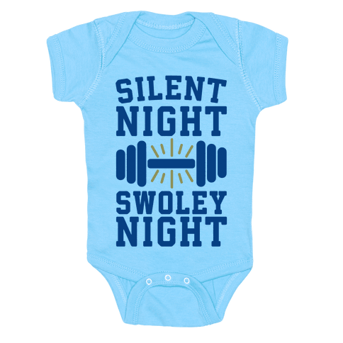 Silent Night Swoley Night Baby Onesy