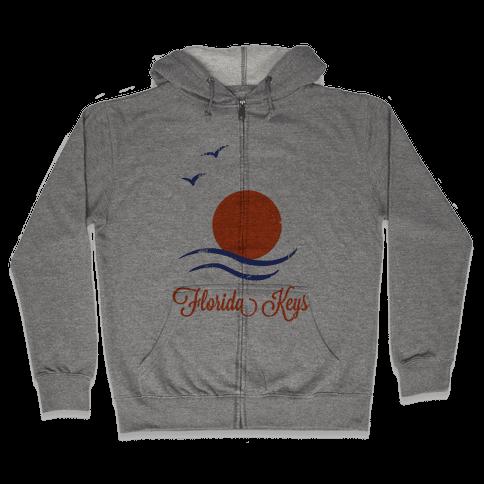 Florida Keys (Vintage) Zip Hoodie
