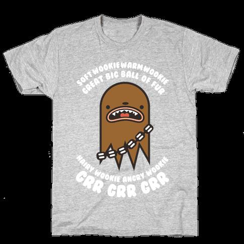 Soft Wookie Warm Wookie Great Big Ball of Fur Mens T-Shirt