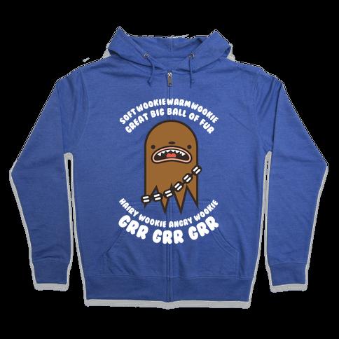 Soft Wookie Warm Wookie Great Big Ball of Fur Zip Hoodie