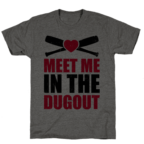 Meet Me In The Dugout (Baseball Tee) Mens T-Shirt
