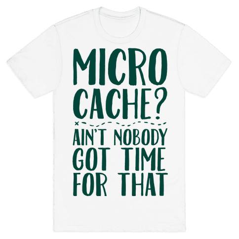 Micro Cache? Ain't Nobody Got Time For That Mens T-Shirt
