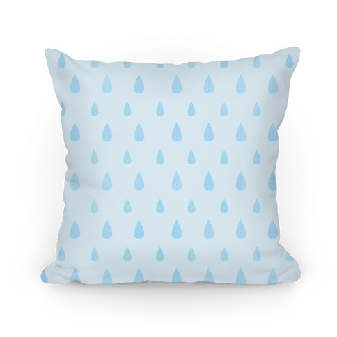 Blue Tear Drop Pattern Pillow