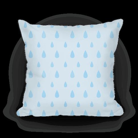 Blue Tear Drop Pattern