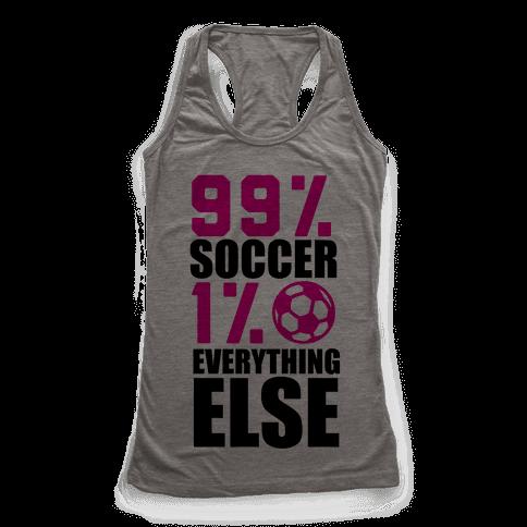 99% Soccer Racerback Tank Top