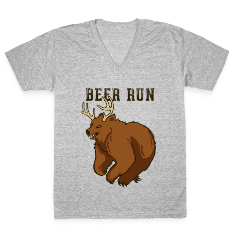 Beer Run V-Neck Tee Shirt