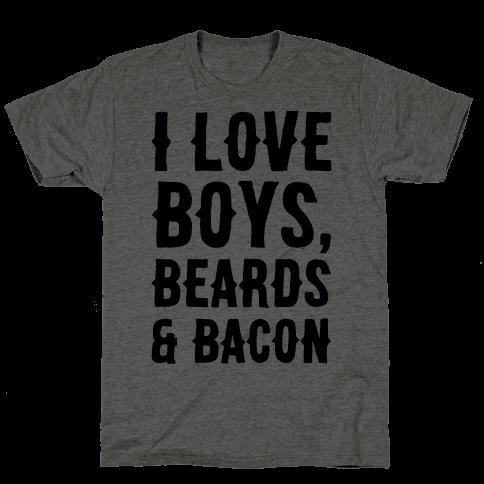 Boys, Beards and Bacon Mens T-Shirt