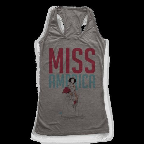 Miss America Paper Doll Racerback Tank Top