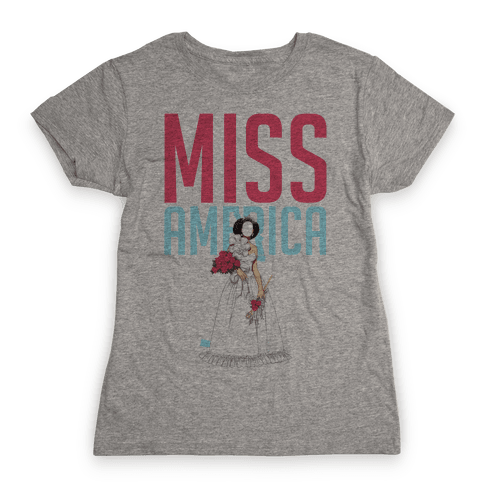 Miss America Paper Doll Womens T-Shirt
