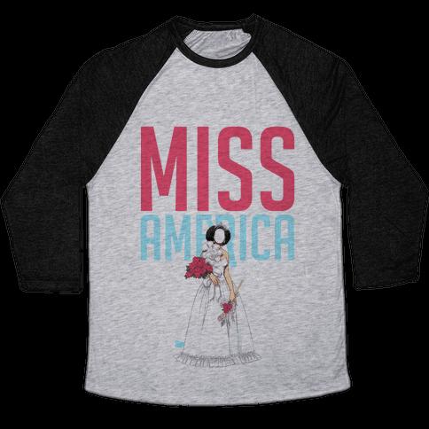 Miss America Paper Doll Baseball Tee