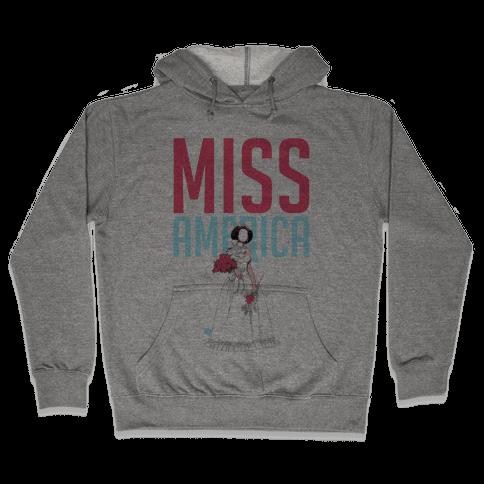 Miss America Paper Doll Hooded Sweatshirt
