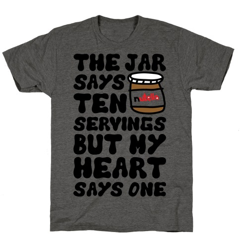 Nutella Servings Of The Heart T-Shirt