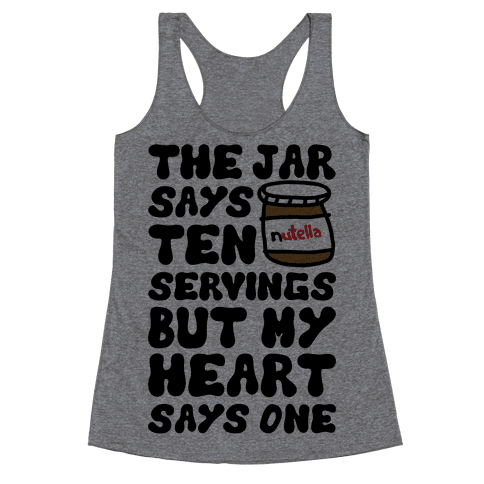 Nutella Servings Of The Heart Racerback Tank Top