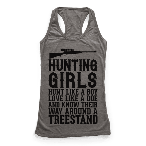 Hunting Girls Racerback Tank Top