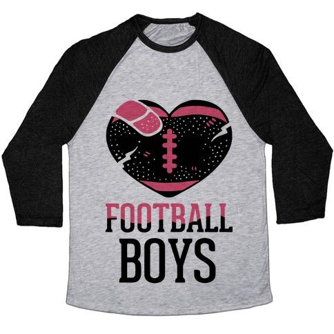 Football Boys Baseball Tee