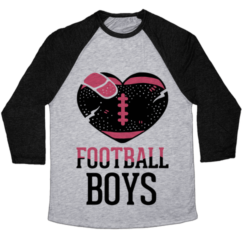 Football Boys Baseball Tee