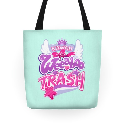 Kawaii Weeaboo Trash Anime Logo Tote