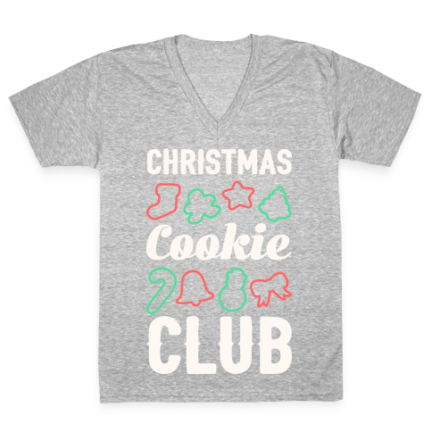 Christmas Cookie Club V-Neck Tee Shirt