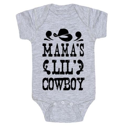 Mama's Lil' Cowboy Baby Onesy