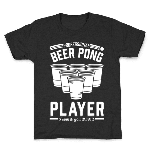 Professional Beer Pong Player Kids T-Shirt