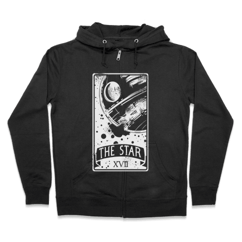 The Star Tarot Card Zip Hoodie