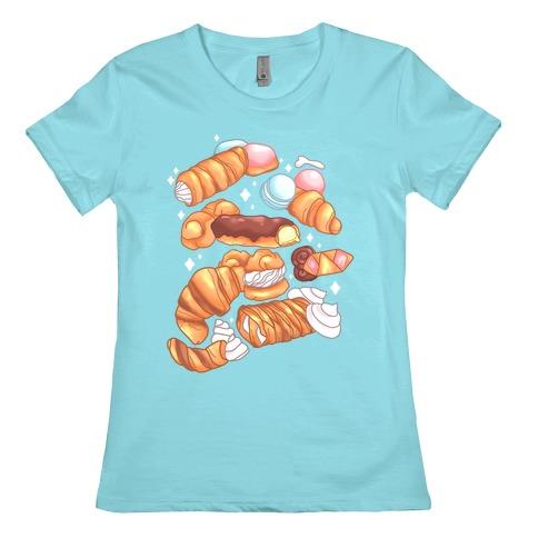 Penis Pastries Pattern Womens T-Shirt