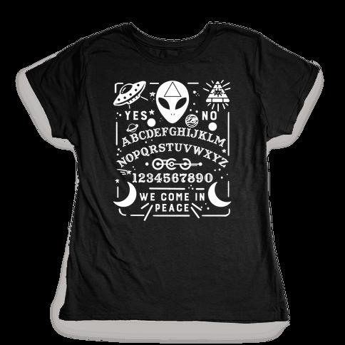 Occult Alien Ouija Board Womens T-Shirt