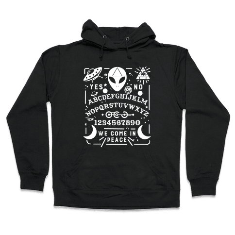 Occult Alien Ouija Board Hooded Sweatshirt