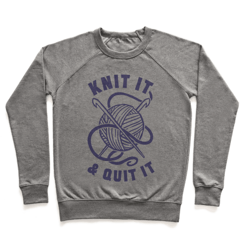Knit It & Quit It Pullover