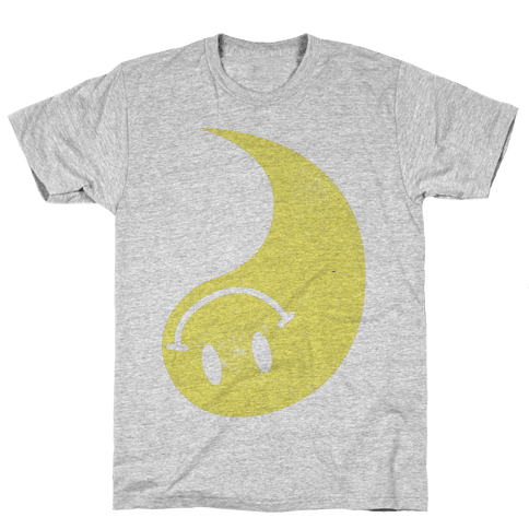 Smiley Yin Yang 2 Mens T-Shirt