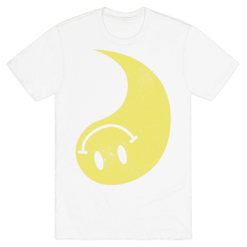 Smiley Yin Yang 2 Mens T-Shirt