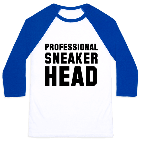 Professional Sneaker Head Baseball Tee